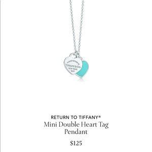 Tiffany mini double heart necklace